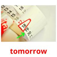 tomorrow picture flashcards