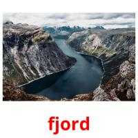 fjord picture flashcards