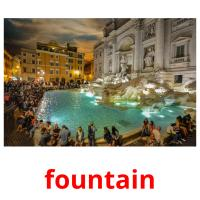 fountain picture flashcards