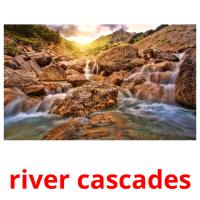 river cascades picture flashcards