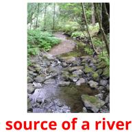 source of a river picture flashcards