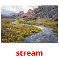 stream picture flashcards