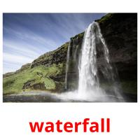 waterfall picture flashcards