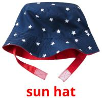sun hat picture flashcards
