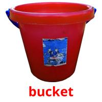 bucket picture flashcards