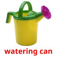 watering can picture flashcards