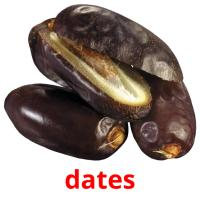 dates picture flashcards