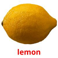 lemon picture flashcards