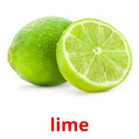lime picture flashcards