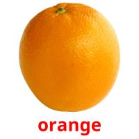 orange picture flashcards