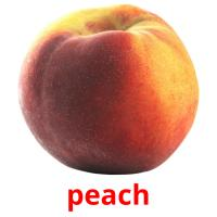 peach picture flashcards
