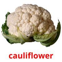 cauliflower picture flashcards
