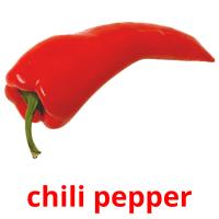 chili pepper picture flashcards
