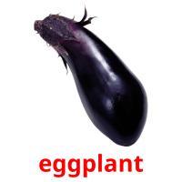 eggplant picture flashcards