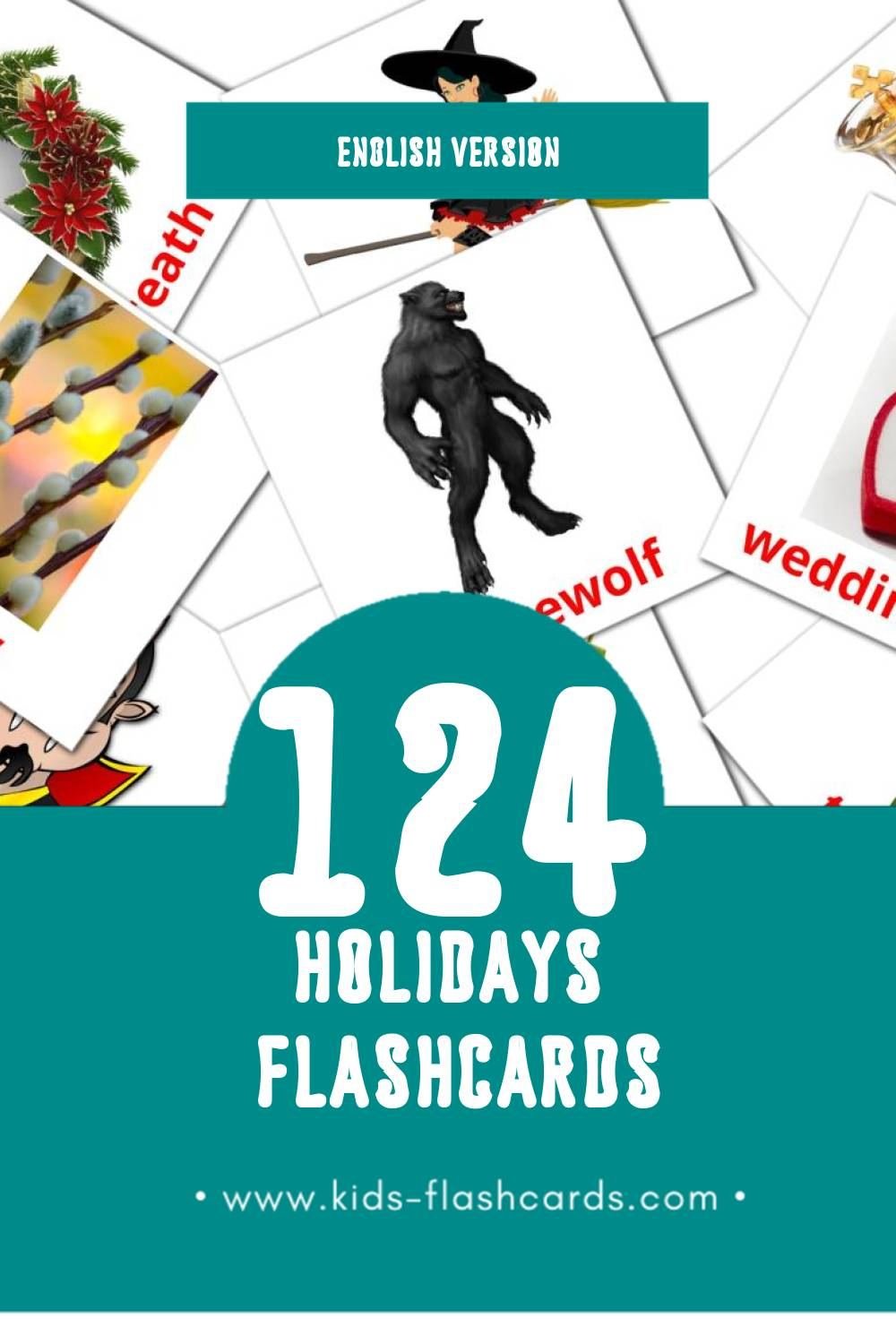 Visual Holidays Flashcards for Toddlers (93 cards in English)