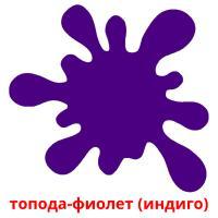 топода-фиолет (индиго) picture flashcards