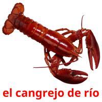el cangrejo de río picture flashcards