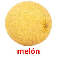 melón picture flashcards