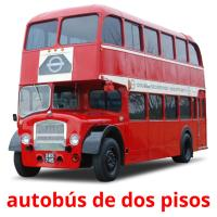 autobús de dos pisos picture flashcards