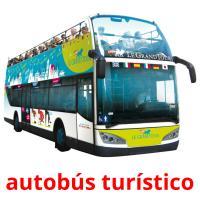autobús turístico picture flashcards