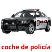 coche de policía picture flashcards