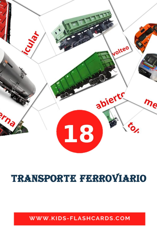 18 Transporte ferroviario Picture Cards for Kindergarden in spanish