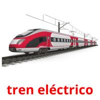 tren eléctrico picture flashcards