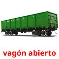 vagón abierto picture flashcards