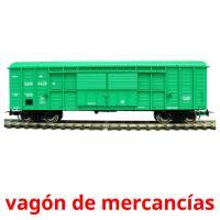 vagón de mercancías picture flashcards