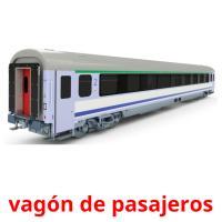 vagón de pasajeros picture flashcards