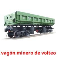 vagón minero de volteo picture flashcards