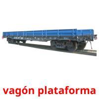 vagón plataforma picture flashcards