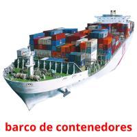 barco de contenedores picture flashcards