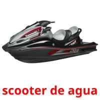 scooter de agua picture flashcards