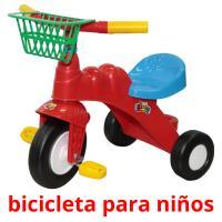 bicicleta para niños picture flashcards