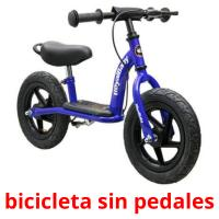 bicicleta sin pedales picture flashcards