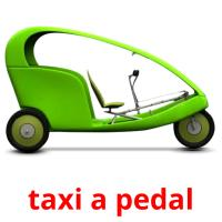taxi a pedal picture flashcards