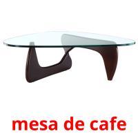 mesa de cafe picture flashcards
