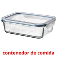 contenedor de comida picture flashcards