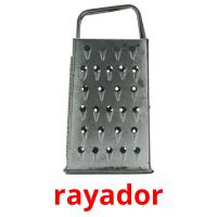 rayador picture flashcards