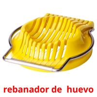 rebanador de  huevo picture flashcards