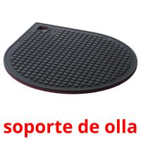 soporte de olla picture flashcards