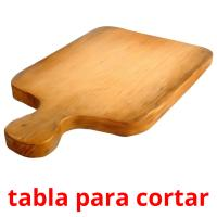 tabla para cortar picture flashcards