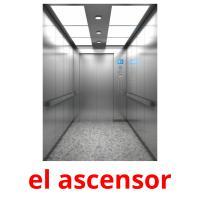 el ascensor picture flashcards