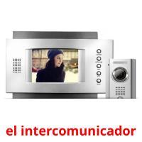 el intercomunicador picture flashcards