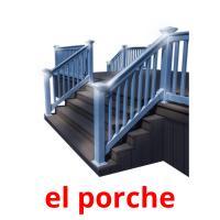 el porche picture flashcards