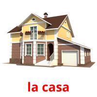 la casa picture flashcards