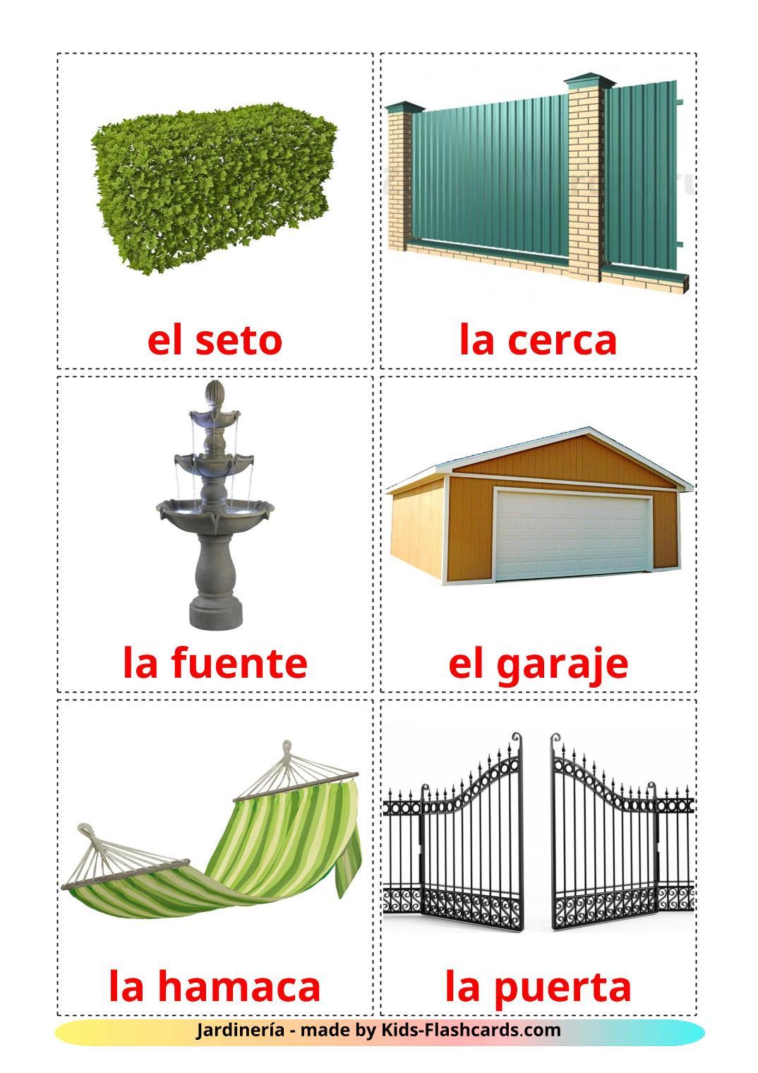 Garden - 18 Free Printable spanish Flashcards