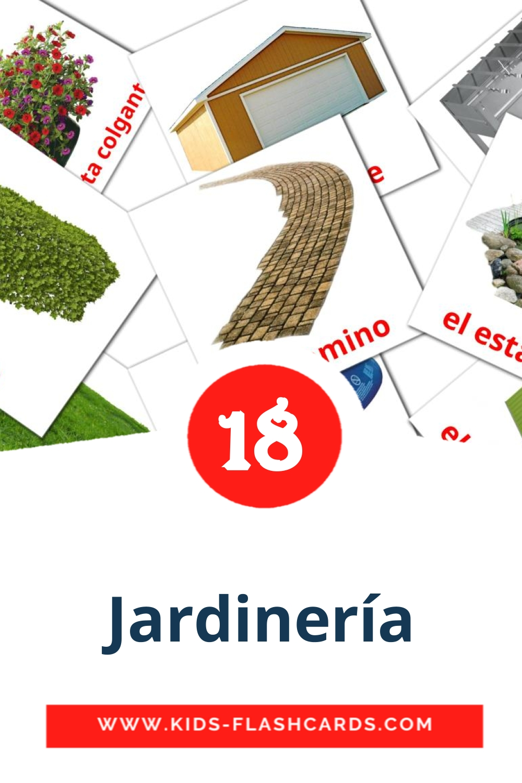 18  el jardín Picture Cards for Kindergarden in spanish