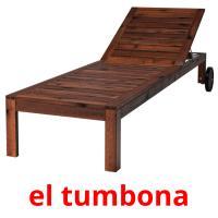 el tumbona picture flashcards